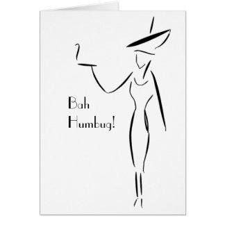 Bah Humbug! The Lady in the Big Hat #3 Card