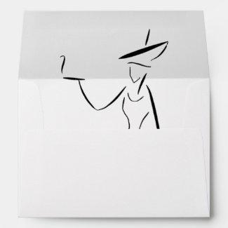 Bah Humbug! The Lady in the Big Hat #3 Envelopes