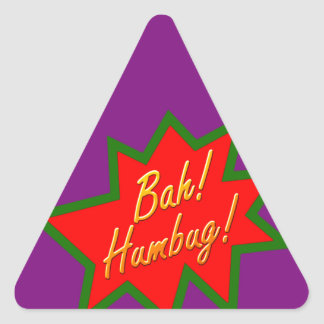Bah Humbug Triangle Sticker