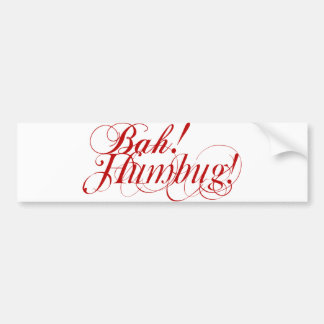 Bah! Humbug! typography bumper sticker