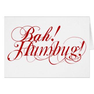 Bah! Humbug! typography Christmas card