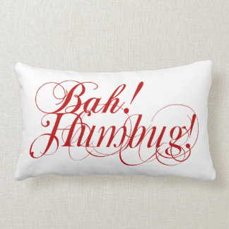 Bah! Humbug! typography lumbar pillow