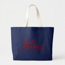 Bah! Humbug! typography tote bag