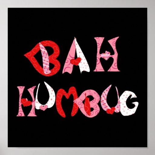 Bah Humbug Valentine Poster