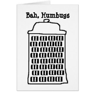 Bah, humbugs stationery note card