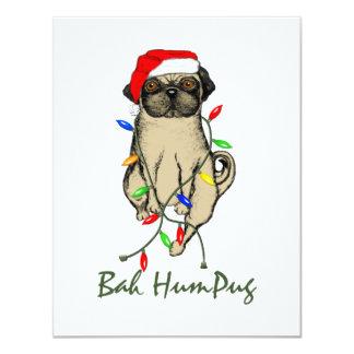 Bah HumPug 4.25x5.5 Paper Invitation Card