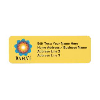Bahá í custom return address labels