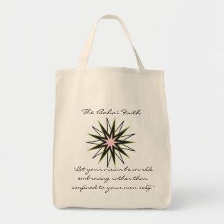 Baha'i Faith Star Grocery Tote Bag