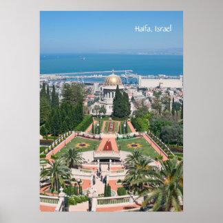 Bahá'í Gardens of Haifa Poster
