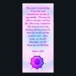 "Baha&#39;i Healing Prayer Rack Card<br><div class=""desc"">Nine-Pointed star BAHA&#39;I mandala with healing prayer</div>"