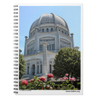Baha'i House of Worship, Wilmette USA Spiral Notebooks