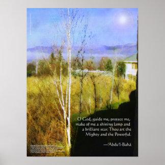 Baha'i Prayer Poster Print