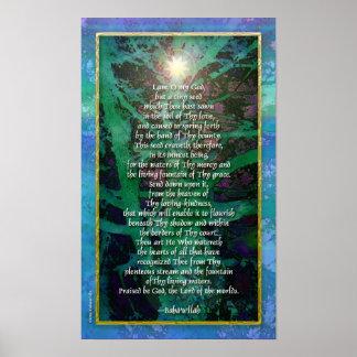 Baha'i Prayer - Tiny Seed Poster Print