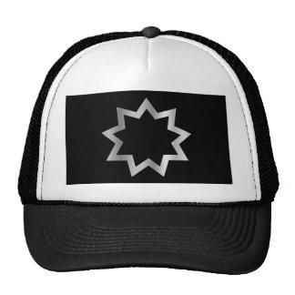 Bahai religion Symbol Nine pointed star Mesh Hat