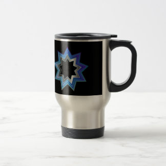 Bahai Religion Symbol- Nine pointed star Travel Mug