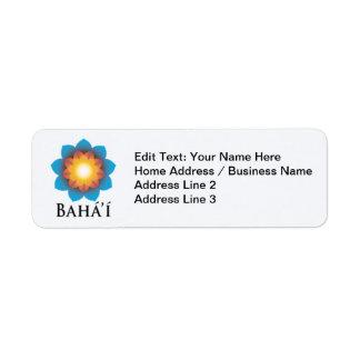 Bahá'í Return Address Label