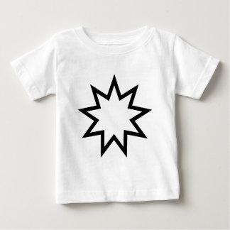 Bahai star black baby T-Shirt