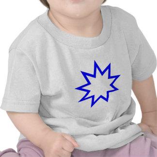 Bahai star blue tees