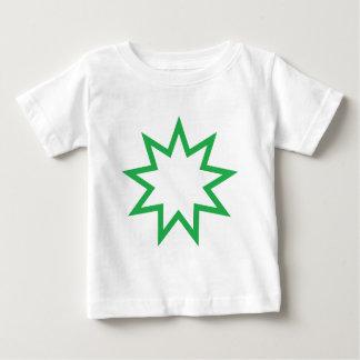 Bahai star green baby T-Shirt