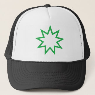 Bahai star green trucker hat