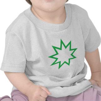 Bahai star green shirts