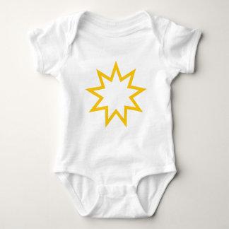 Bahai star orange baby bodysuit