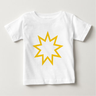 Bahai star orange baby T-Shirt