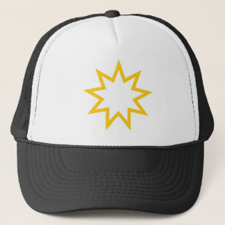 Bahai star orange trucker hat
