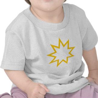 Bahai star orange tshirts