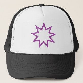 Bahai star purple trucker hat