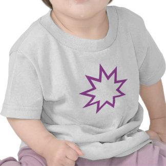 Bahai star purple tees