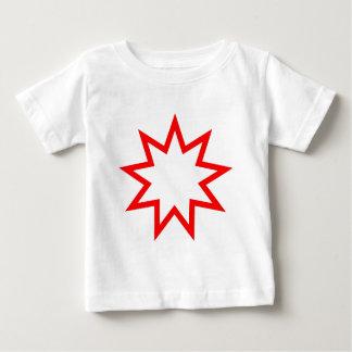 Bahai star red baby T-Shirt