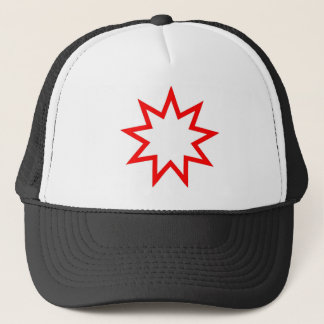 Bahai star red trucker hat
