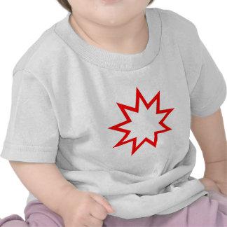 Bahai star red tshirt