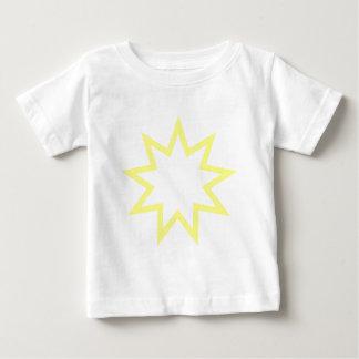 Bahai star yellow baby T-Shirt