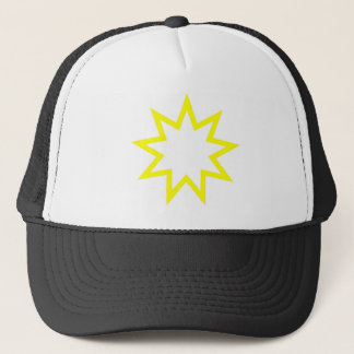Bahai star yellow trucker hat