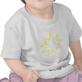Bahai star yellow t shirts