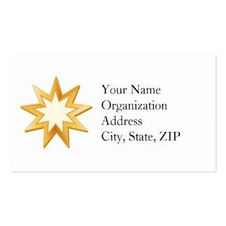 Baha'i Symbol Business Card