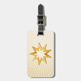Baha'i Symbol Luggage Tag