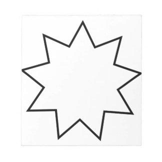 Bahai  Symbol Note Pad