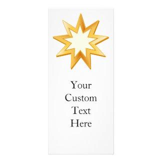 Baha'i Symbol Rack Card