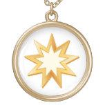 Baha'i Symbol Round Pendant Necklace