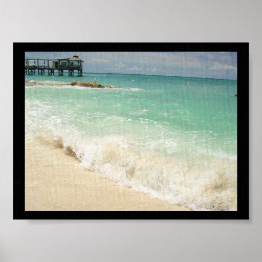 Bahama agita la impresión de la lona posters