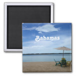 Bahama Beach 2 Inch Square Magnet