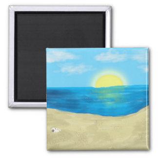 Bahama Beautiful - Original Artwork 2 Inch Square Magnet