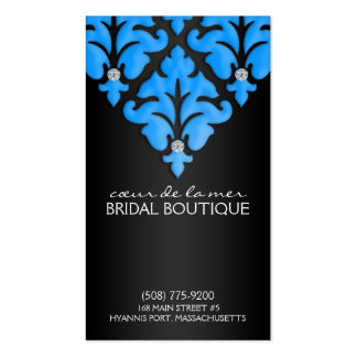 Bahama Blue Diamond Damask Appointment Cards