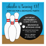 Bahama Blue Let's Have a Ball Bowling Party Invites