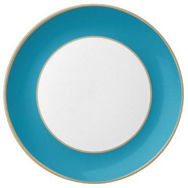 Beach Themed Bahama Blue-Ocean Blue-Water Blue Tropical Romance Porcelain Plate