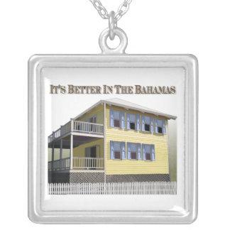 Bahama Home Square Pendant Necklace
