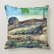 Bahama Iguana American MoJo Pillow throwpillow